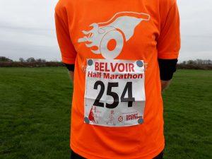 Belvoir Half Marathon number