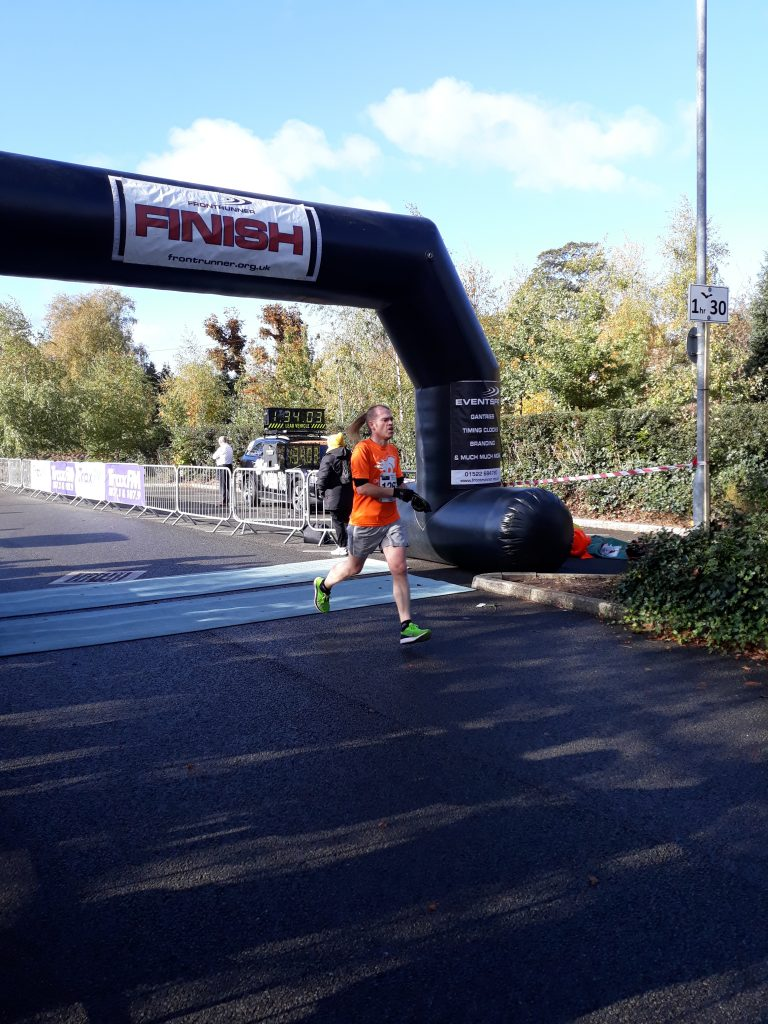 BeestonRunner finishing 2018 Worksop Half Marathon