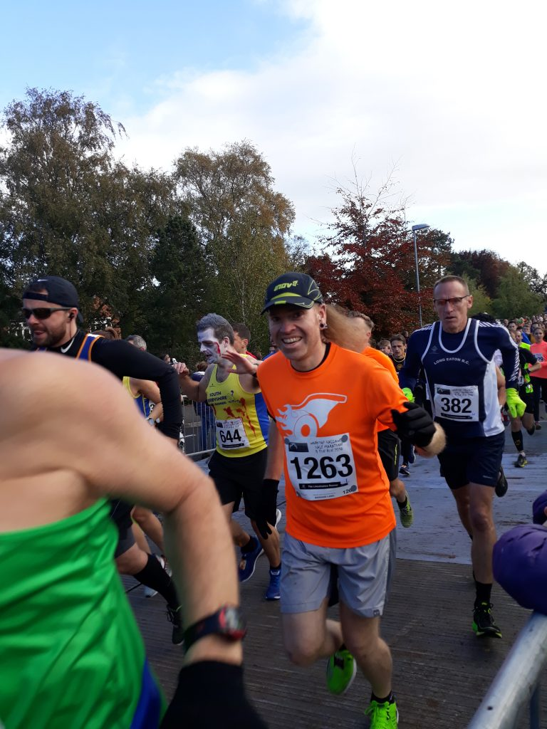 Me in the start funnel at Worksp Half Marathon 2018