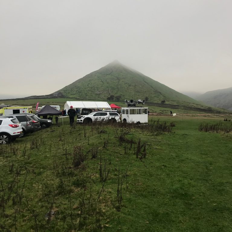 Grey and cloudy start for the 2018 Dovedale Dash
