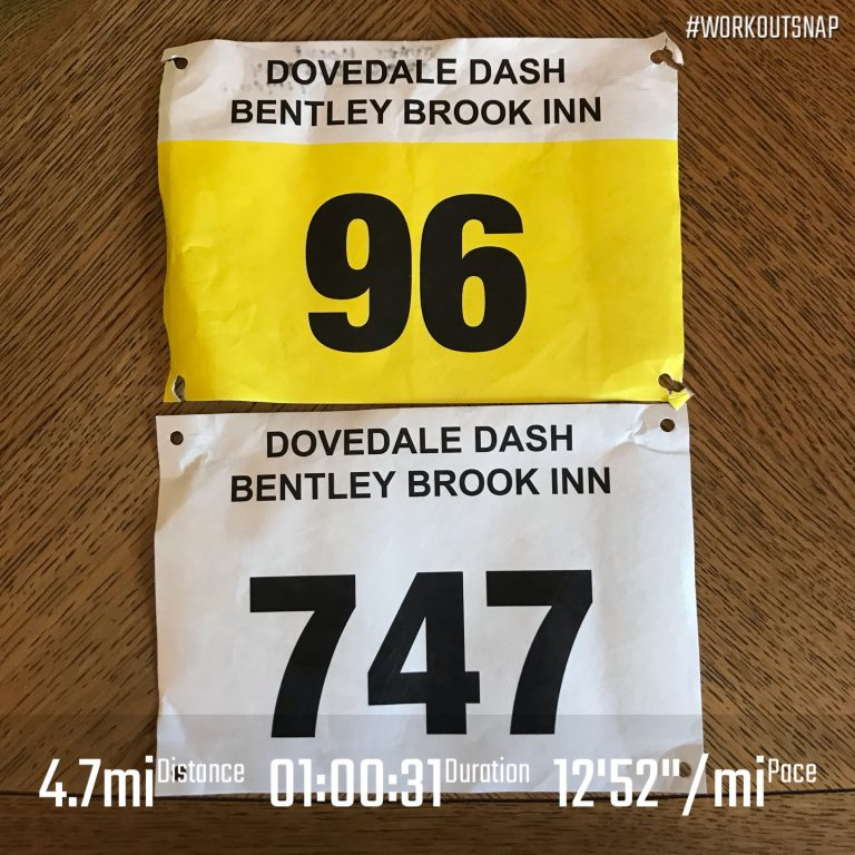 His and Her's bib numbers from Dovedale dash 2018