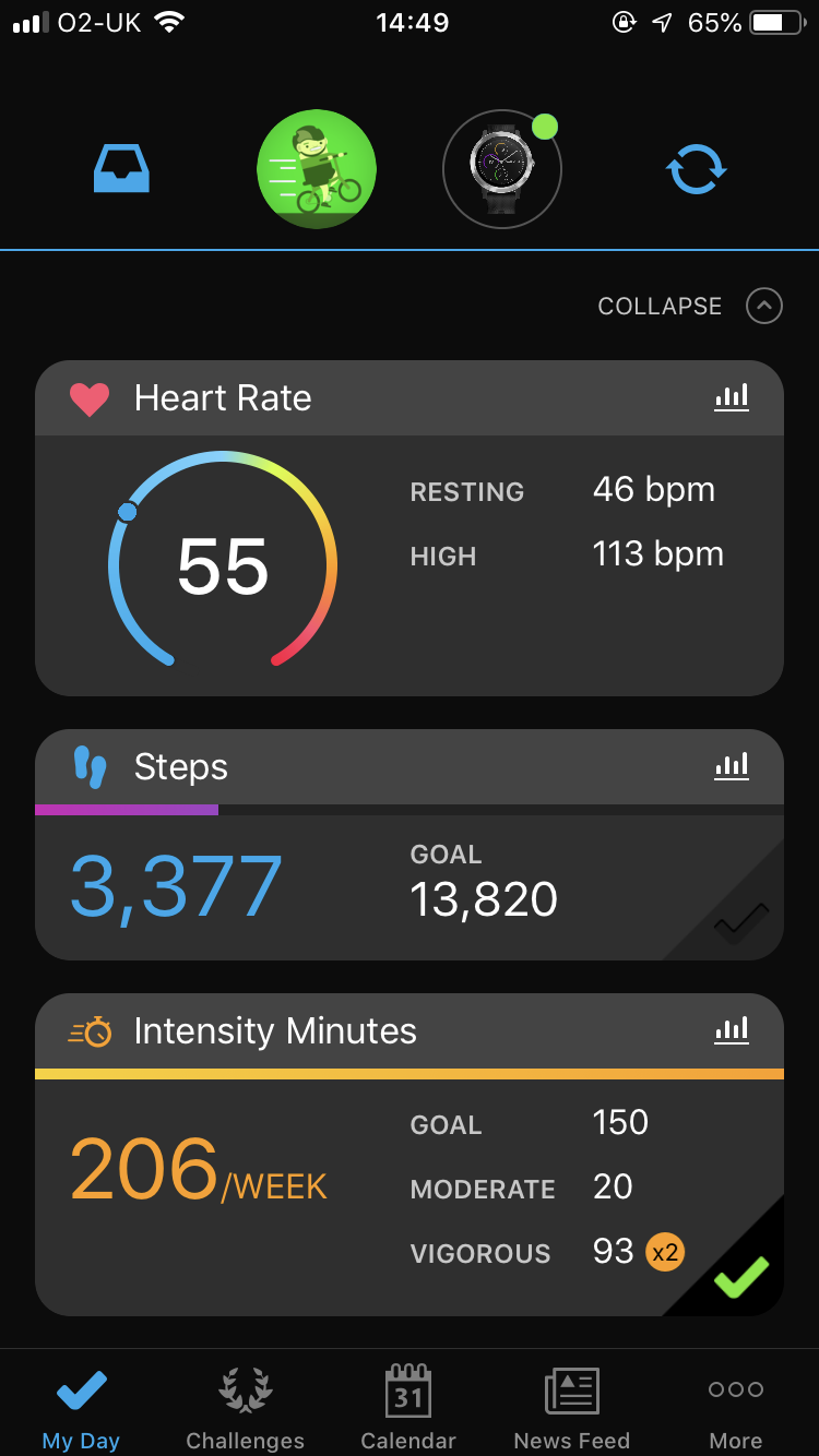 Get monthly mileage total from Garmin Connect mobile app - Beeston ...
