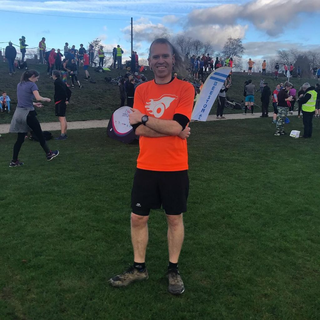 Beeston Runner at 2019 New Years Day Beeston Park Run