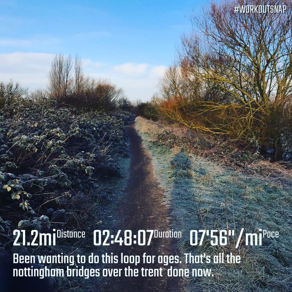 Cold frosty run up the River Trent