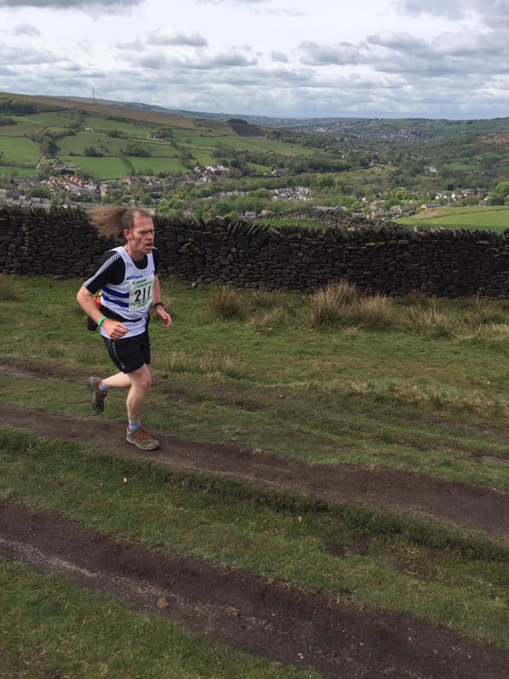 Beeston Runner on the First climb Kinder Downfall 2019
