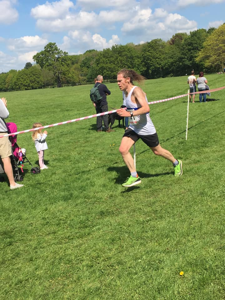 Finishing at Sinfin classic 10k 2019