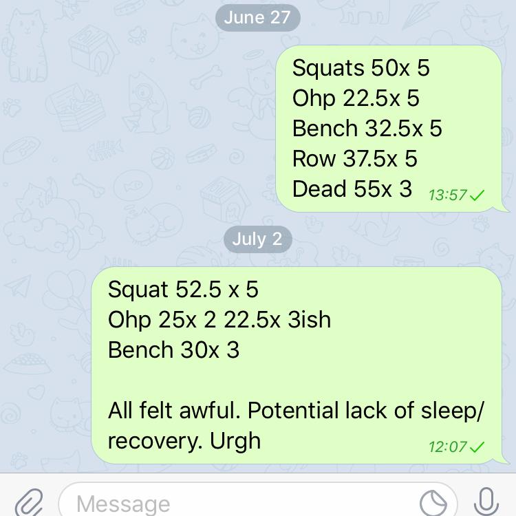 Failed strength session after bad sleep